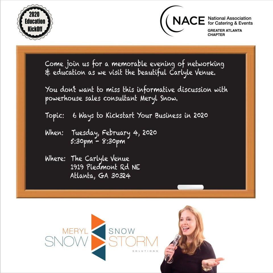 2020 Education Kickoff - NACE Atlanta