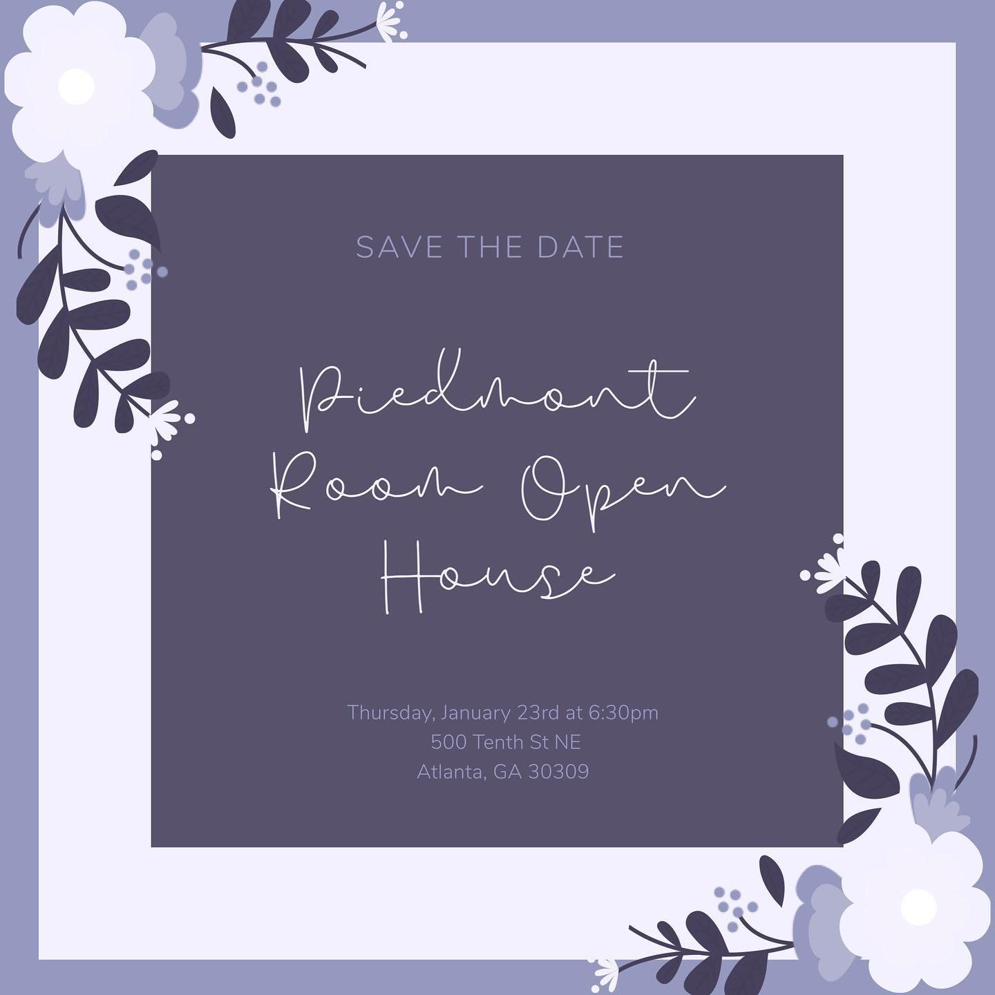 Piedmont Room Winter Open House 2020