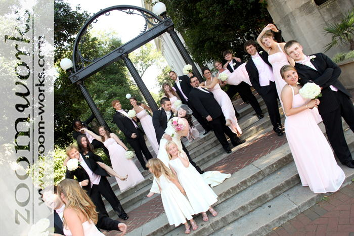 Athens Weddings: Wedding Pictures at the Historic UGA Arch in Athens, Georgia