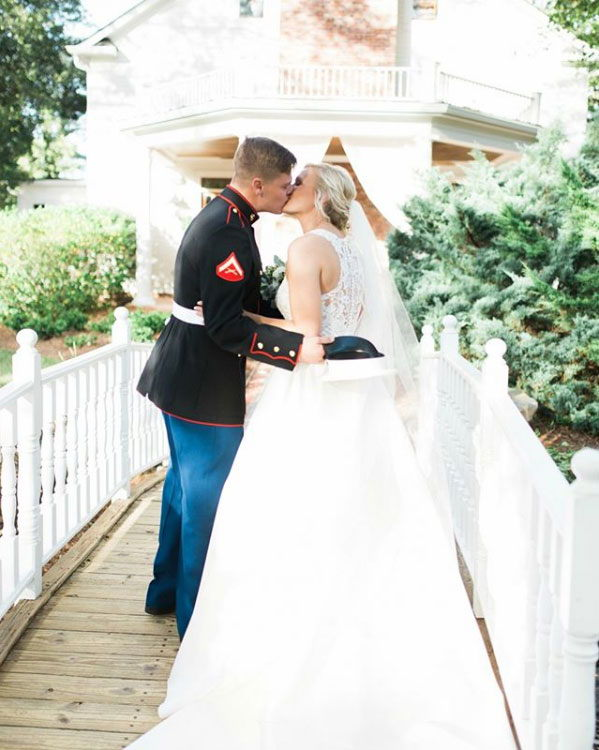 A kiss up the aisle at Carl House
