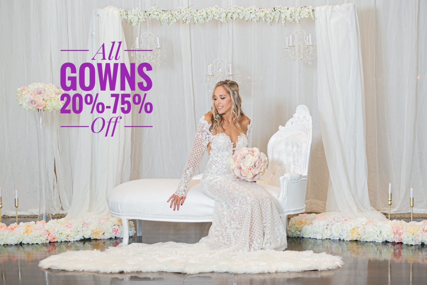 Image for post: All Wedding Gowns on Sale! Feb 15-20, 2021