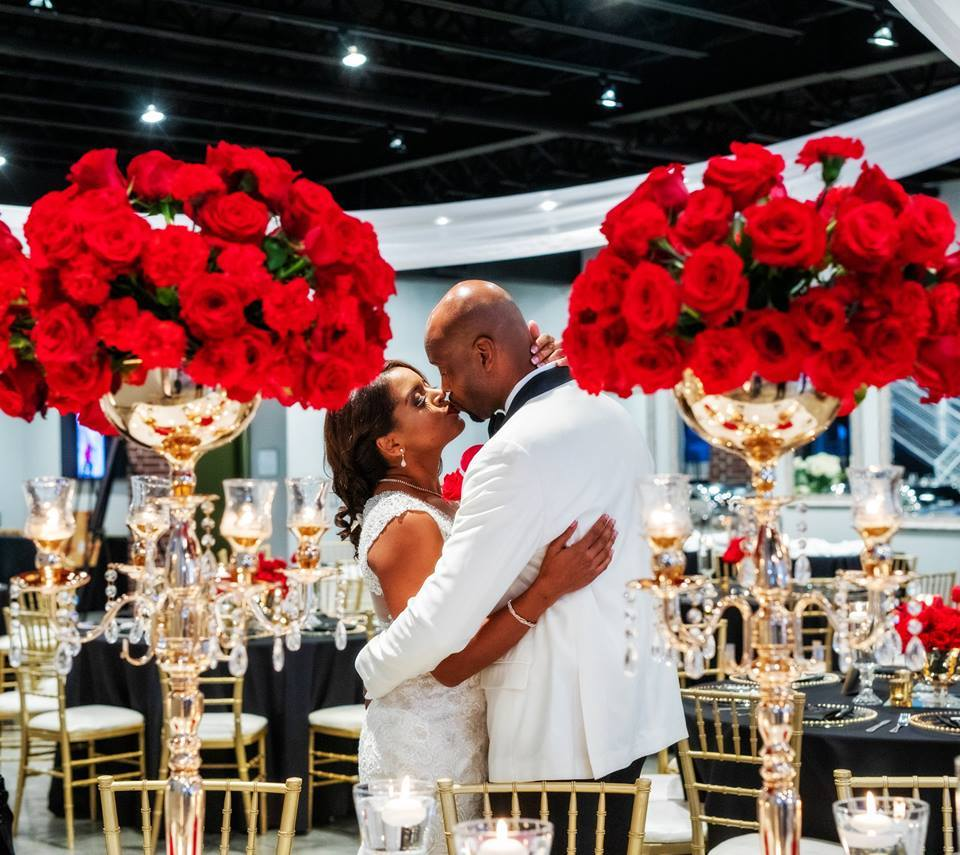 Red, Black, White and Gold Themed Wedding