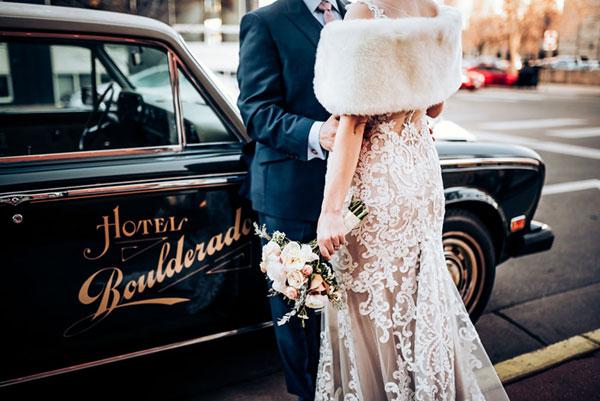 Destination Wedding to Hotel Boulderado in Boulder, Colorado
