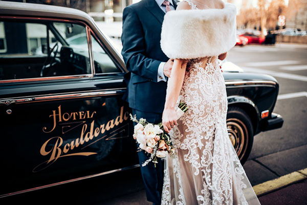 Destination Wedding to Hotel Boulderado in Boulder, Colorado