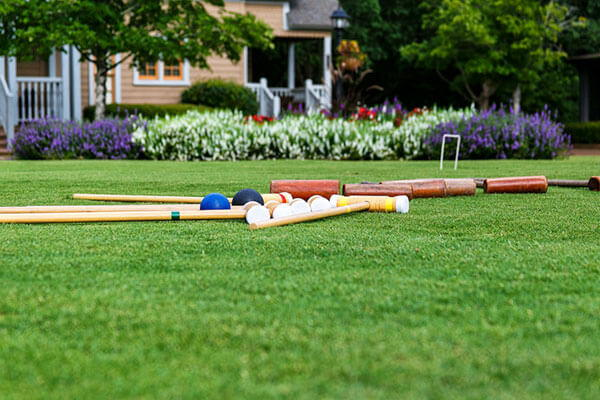 Croquet on the  Village Green